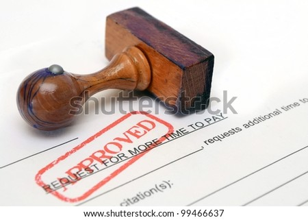 Pay form - stock photo