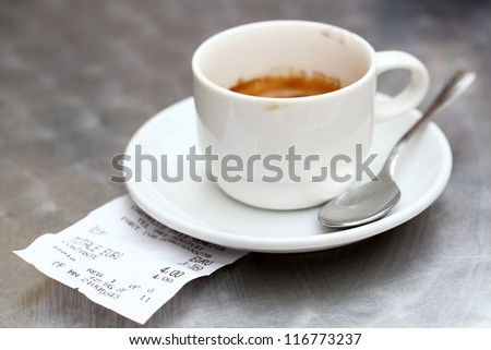 Paying in a Cafe - stock photo