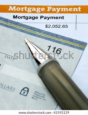 Paying the mortgage for the primary residence - stock photo