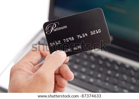 Paying Your Bills Online - stock photo