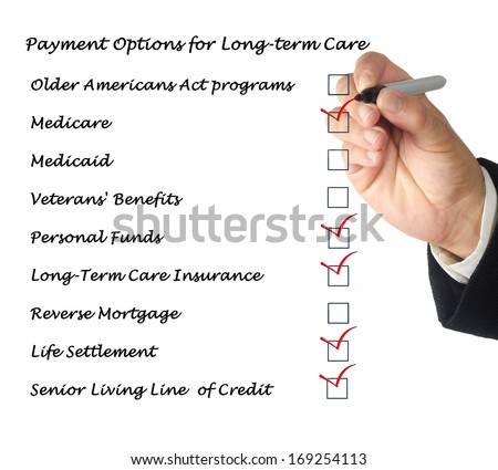 Payment Options for Long-term care - stock photo