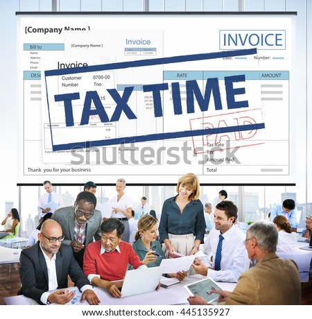 Payment Received Taxation Tax Time Concept - stock photo