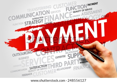 PAYMENT word cloud, business concept - stock photo