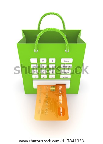 Payments concept.Isolated on white background.3d rendered. - stock photo