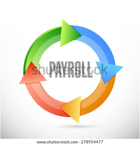 payroll cycle sign concept illustration design over white - stock photo