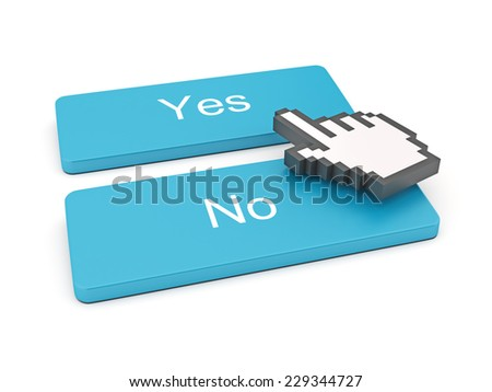 PC keyboard with Yes and No keys - stock photo