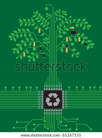 pcb tree - stock photo