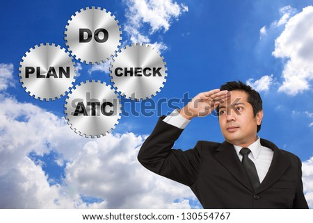 PDCA Lifecycle (Plan Do Check Act) - stock photo