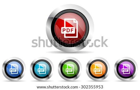 pdf file original modern design colorful icons set for web and mobile app on white background  - stock photo