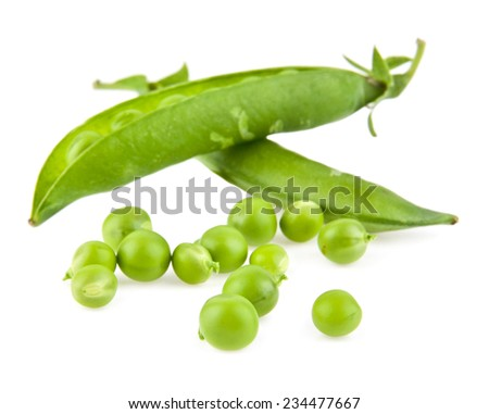 pea on a white background - stock photo