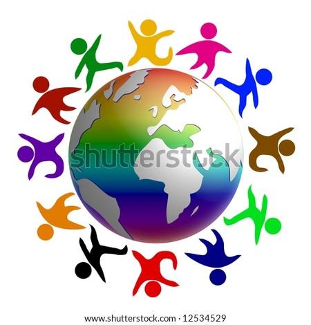 peace around the earth - stock photo