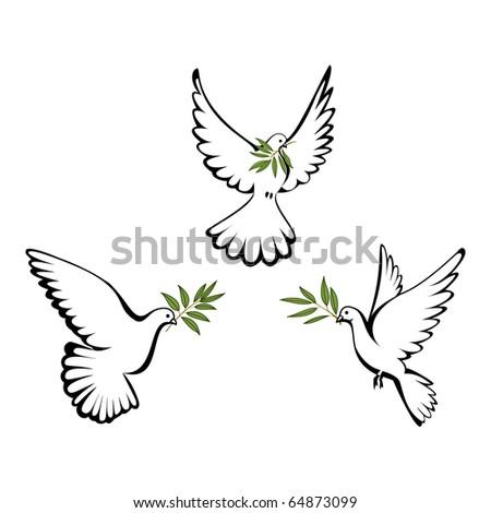 Peace dove - stock photo