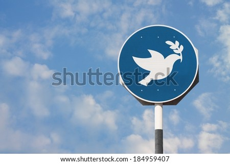 Peace Dove Sign - stock photo