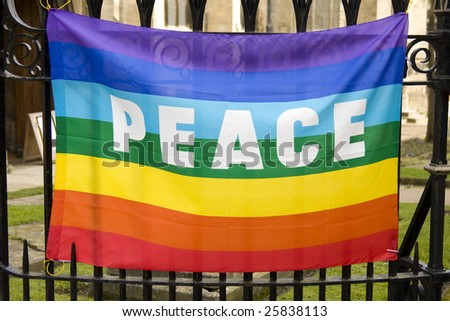 peace flag - stock photo