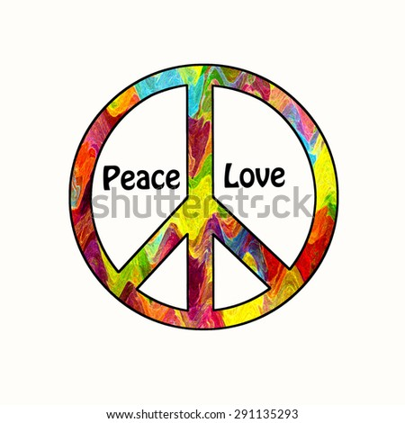 Peace Love - stock photo