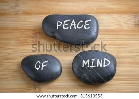 Peace of Mind, health conceptual - stock photo
