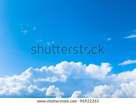 Peace Paradise Clouds - stock photo