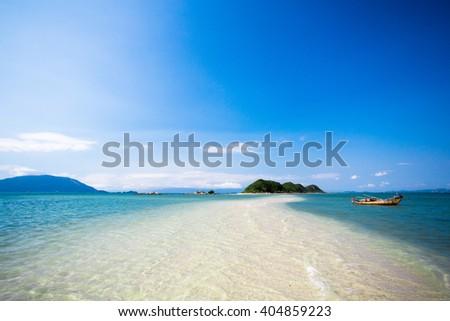Peaceful beach in heaven Nha Trang, VietNam - stock photo