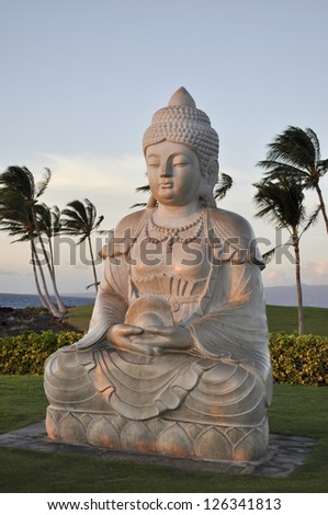 Peaceful buddha - stock photo