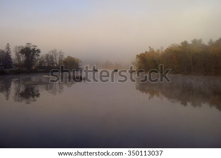 Peaceful River, Canton CT - stock photo