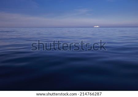 peaceful sea - stock photo