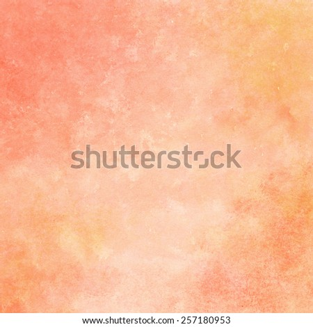 peach and orange watercolor texture background, hand painted - stock photo