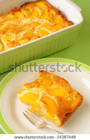 Peach Cobbler - stock photo