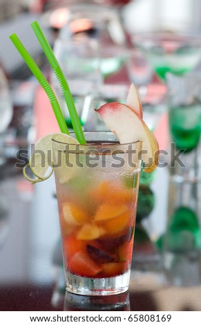 peach coctail - stock photo