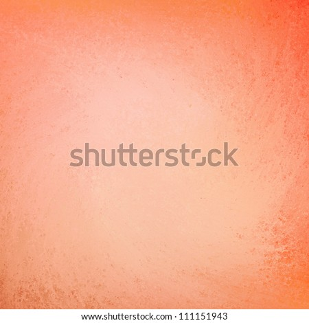 peach orange background layout design, abstract elegant background grunge texture on frame border with light pastel center with copy space for brochure ad or web template layout - stock photo