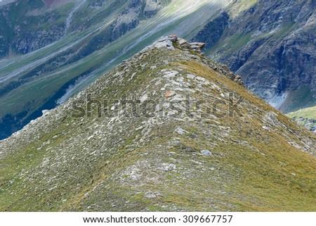 Peak Black Rocks - Plan Maison - Aosta Valley - stock photo