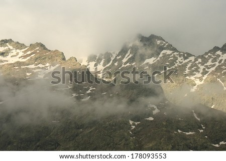 peaks of Sierra de Gredos, Spain - stock photo