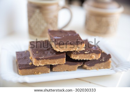 Peanut Butter chocolate cake - stock photo
