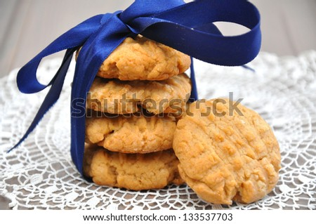 peanut butter cookies - stock photo