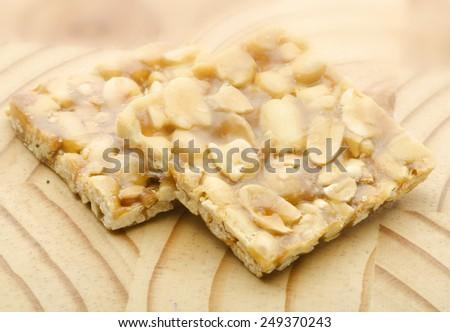 Peanut chikki - stock photo