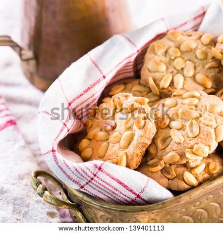 Peanut chip cookies - stock photo