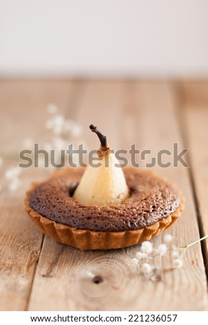 Pear and Hazelnut Tartlets - stock photo