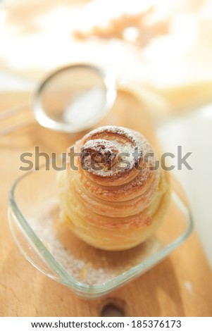 pear in pastry - stock photo