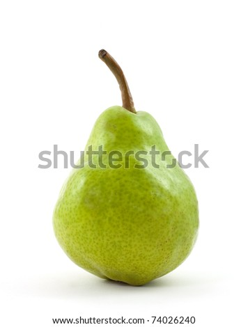 pear isolated on white background - stock photo
