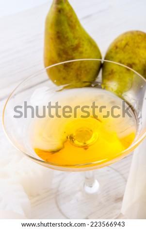 Pear liqueur - stock photo