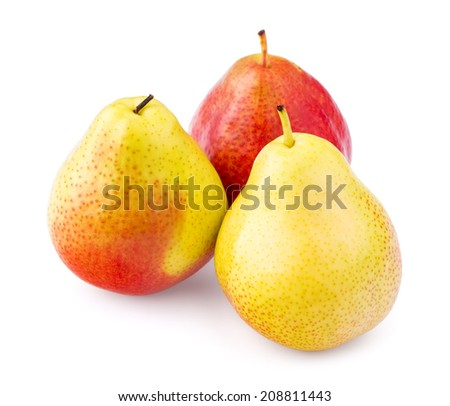 Pear on a white background, isolated, close-up - stock photo