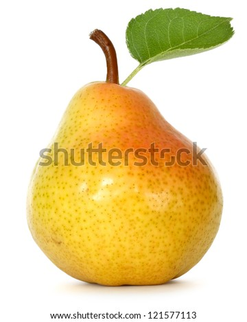 pear over white background - stock photo