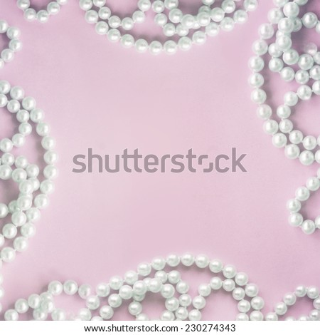 pearl background - stock photo