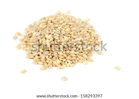 Pearl Barley Isolated on White Background - stock photo