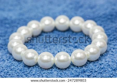 Pearl bracelet - stock photo