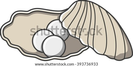 Pearl cute doodle illustration design - stock photo
