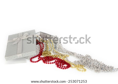 pearl strands - stock photo