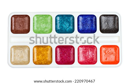 pearlescent paint isolated on white background - stock photo