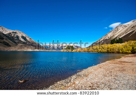 Pearson lake, New Zealand - stock photo