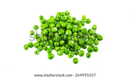 Peas isolated on the white background - stock photo