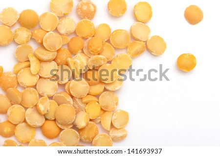 peas on a white background. macro - stock photo
